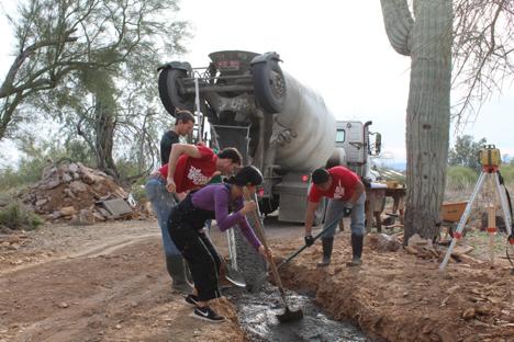students at taliesen west in arizona